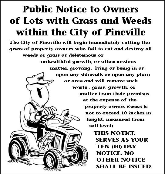 Grass Cutting Notice